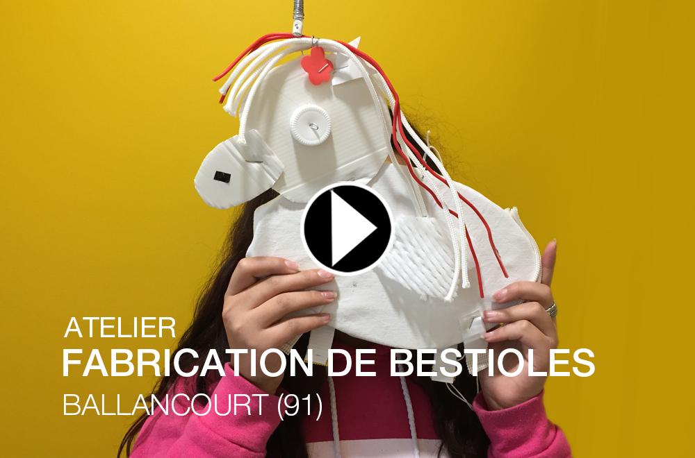 DÉCEMBRE 2017 – ANIMATION FABRIQUER UNE BESTIOLE À BALLANCOURT (91)
