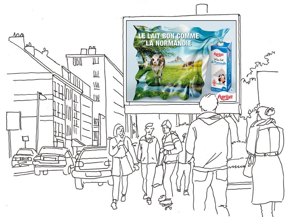 illustration affichage produit Agrilait Agrial