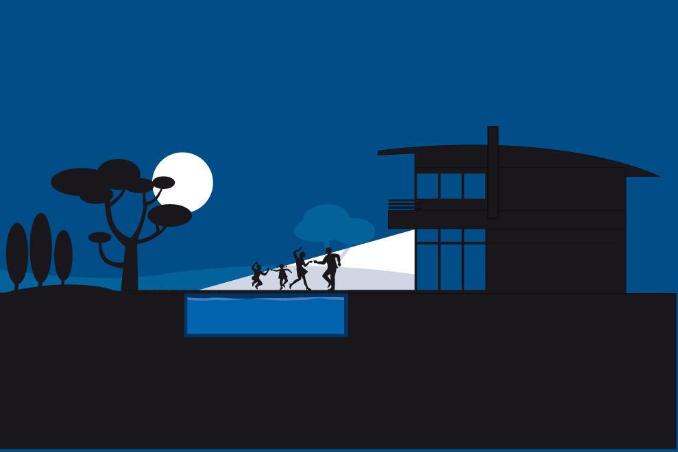 illustration nocturne swim n'spa
