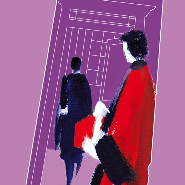 illustration robe de juge noir et rouge Cour d'appel de Rennes réalisée par Art terre
