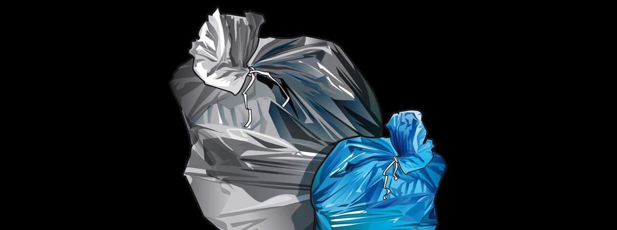 photo Rennes Métropole panoramique. Illustrations pour aider à trier les déchets