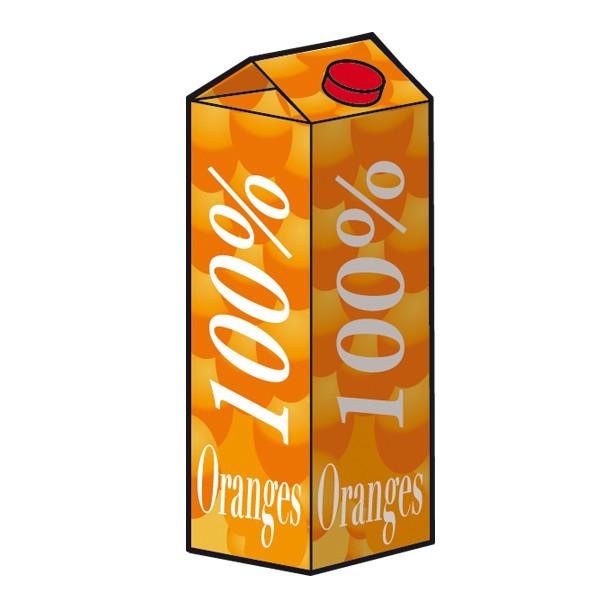 illustration brique de jus d'orange pour Rennes Métropole