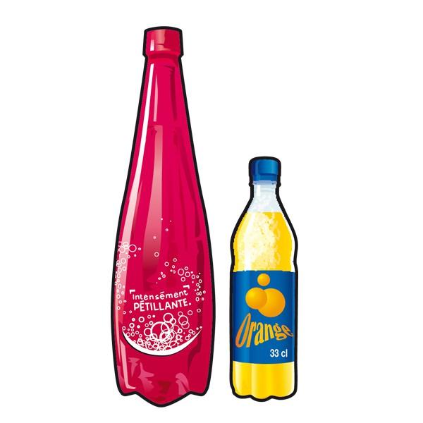 illustration bouteille en plastique Rennes Métropole. Tri et recyclage des déchets.