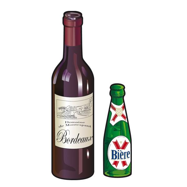 illustration bouteilles en verre Rennes Métropole. Tri des déchets.