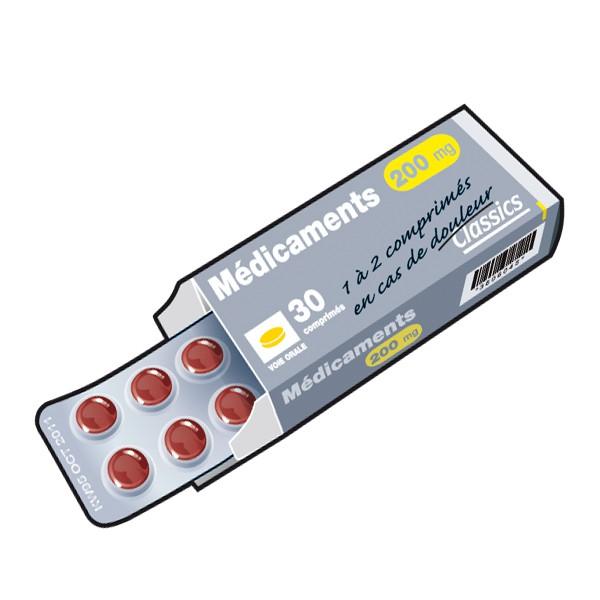 illustration boîte de médicaments Rennes Métropole. Tri des déchets.
