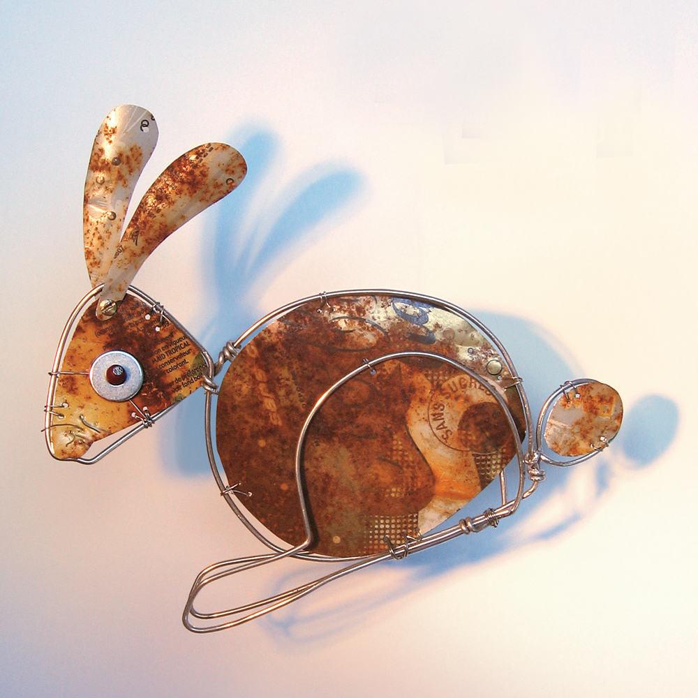 image EDB lapin. sculpture réalisée pour la revue l'Eleveur de Lapins Editions du Boisbaudry